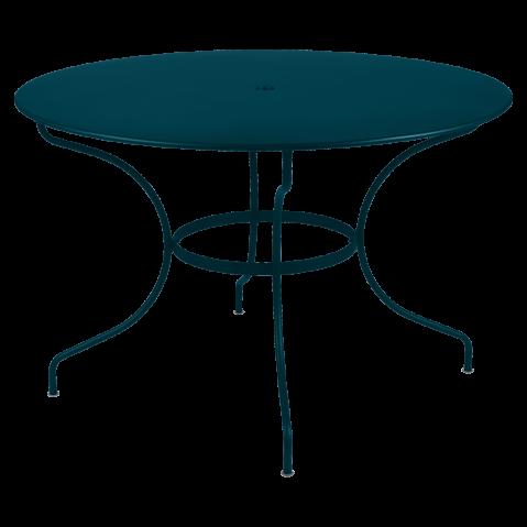 Table ronde OPÉRA D.96 ou D.117 cm de Fermob, D. 117, bleu acapulco