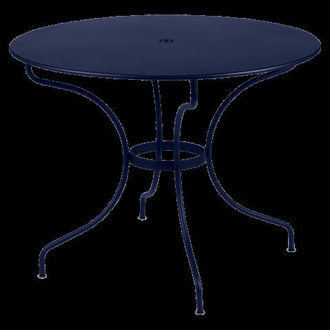Table ronde OPÉRA D.96 ou D.117 cm de Fermob, D. 96, Bleu abysse