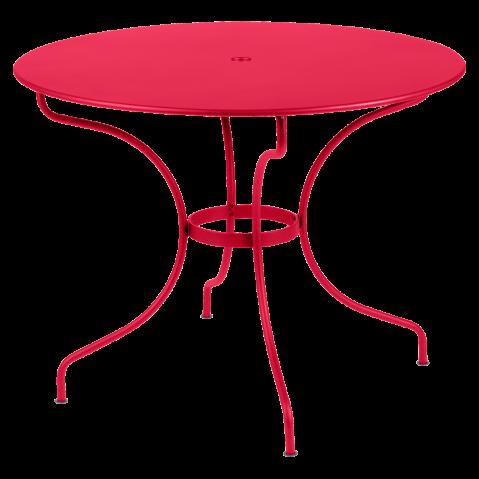 Table ronde OPÉRA D.96 ou D.117 cm de Fermob, D. 96, Rose praline