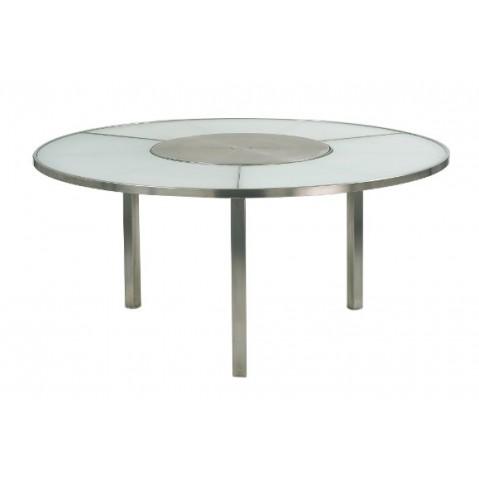 Table O-ZON 160 EP verre et inox de Royal Botania, 2 coloris