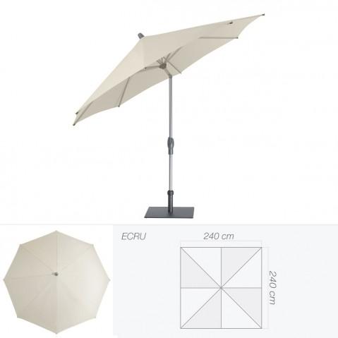 Parasol ALU-TWIST EASY de Glatz carré 240x240 cm écru