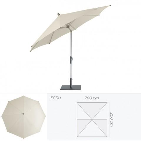 Parasol ALU-TWIST EASY de Glatz rectangulaire 250x200 cm écru