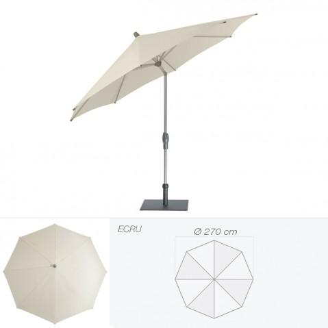 Parasol ALU-TWIST EASY de Glatz rond D.270 cm écru