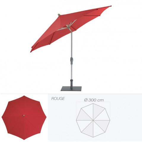 Parasol ALU-TWIST EASY de Glatz rond D.300 cm rouge