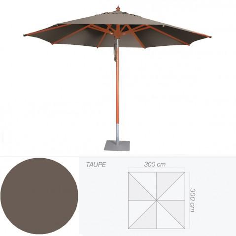 Parasol BALI de Jardinico 300x300 cm taupe