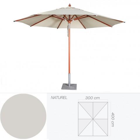 Parasol BALI de Jardinico 300x400 cm naturel