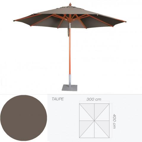 Parasol BALI de Jardinico 300x400 cm taupe