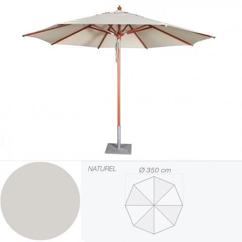 Parasol BALI de Jardinico D.350 cm naturel