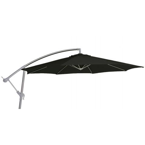 Parasol décentré FREE POLE toile noire