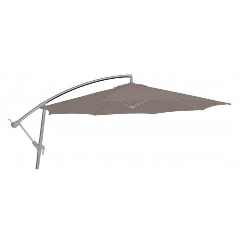 Parasol décentré FREE POLE toile taupe
