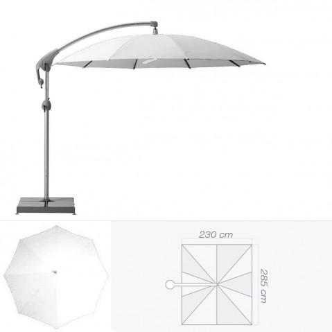 Parasol décentré PENDALEX P+ de Glatz rectangulaire argile