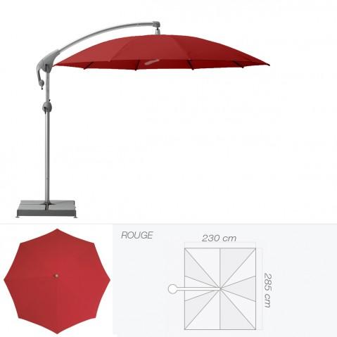 Parasol décentré PENDALEX P+ de Glatz rectangulaire rouge