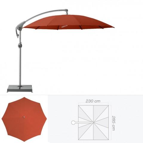 Parasol décentré PENDALEX P+ de Glatz rectangulaire rouge tomette