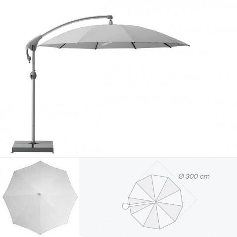 Parasol décentré PENDALEX P+ de Glatz rond D.300 cm argent