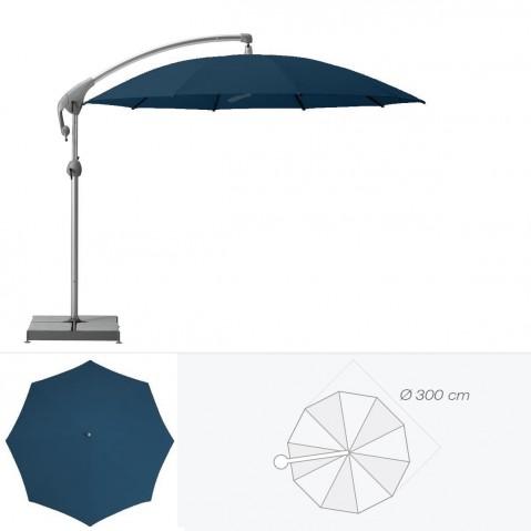 Parasol décentré PENDALEX P+ de Glatz rond D.300 cm bleu de prusse