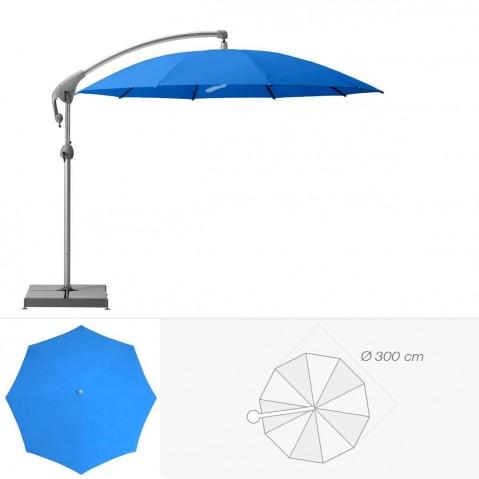 Parasol décentré PENDALEX P+ de Glatz rond D.300 cm bleu roi
