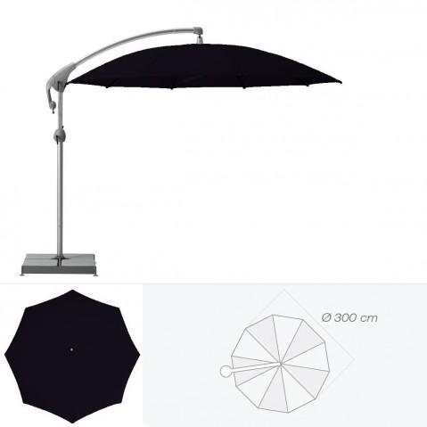 Parasol décentré PENDALEX P+ de Glatz rond D.300 cm Noir d'anilime