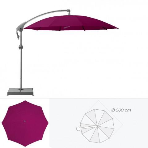 Parasol décentré PENDALEX P+ de Glatz rond D.300 cm prune