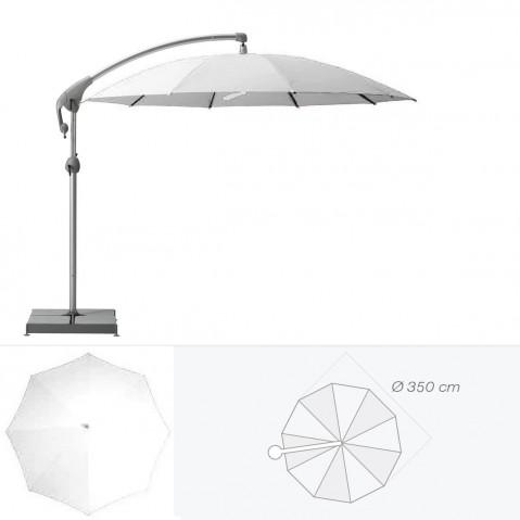 Parasol décentré PENDALEX P+ de Glatz rond D.350 cm argile