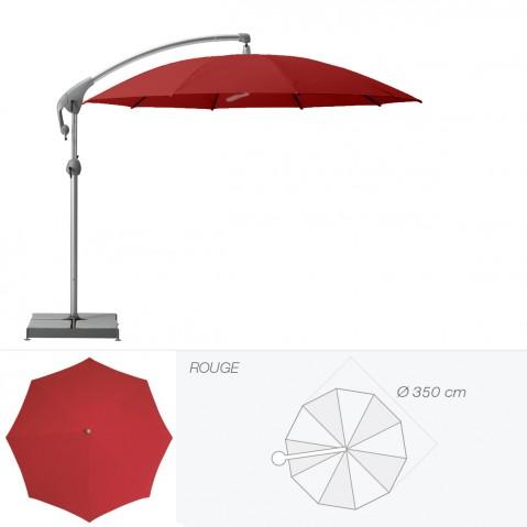 Parasol décentré PENDALEX P+ de Glatz rond D.350 cm rouge