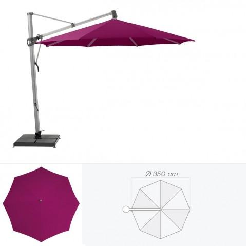 Parasol décentré SOMBRANO de Glatz rond D.350 cm prune