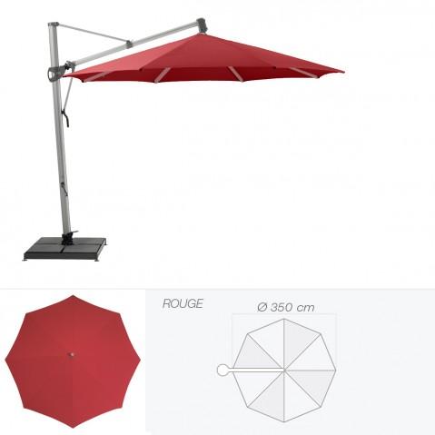 Parasol décentré SOMBRANO S+ de Glatz rond D.350 cm rouge