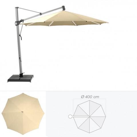 Parasol décentré SOMBRANO de Glatz rond D.400 cm sable