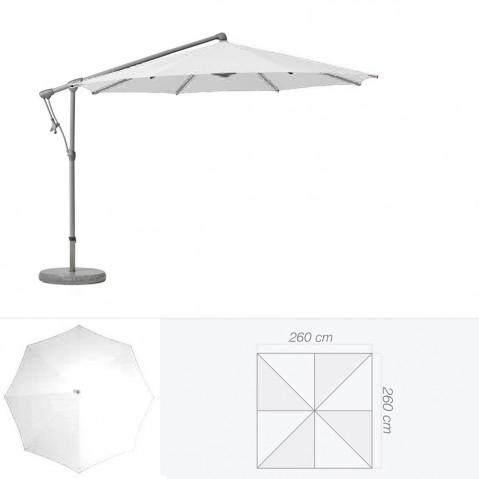 Parasol décentré SUNWING C+ de Glatz carré 260x260 cm argile