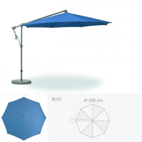 Parasol décentré SUNWING C+ de Glatz rond D.300 cm bleu
