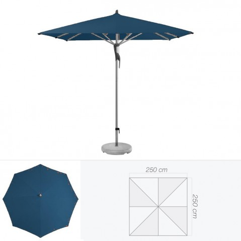Parasol FORTERO de Glatz carré 250x250 cm bleu de prusse
