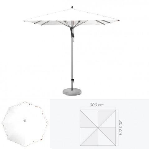 Parasol FORTERO de Glatz carré 300x300 cm argile