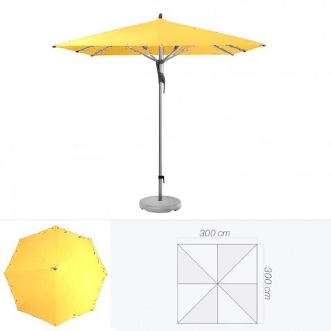 Parasol FORTERO de Glatz carré 300x300 cm aurore