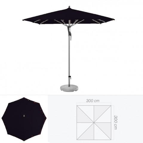 Parasol FORTERO de Glatz carré 300x300 cm Noir d'anilime