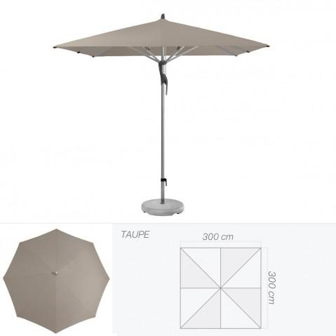 Parasol FORTERO de Glatz carré 300x300 cm taupe