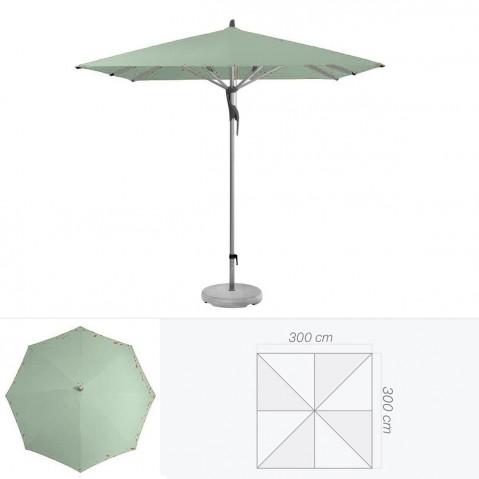 Parasol FORTERO de Glatz carré 300x300 cm vert de gris