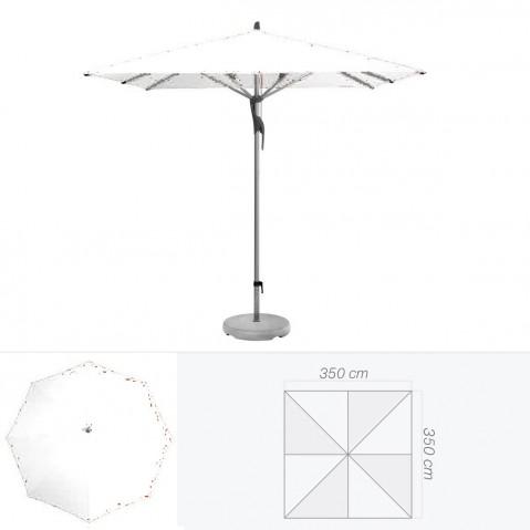 Parasol FORTERO de Glatz carré 350x350 cm argile