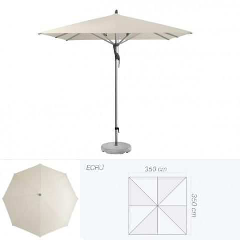 Parasol FORTERO de Glatz carré 350x350 cm écru