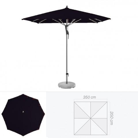 Parasol FORTERO de Glatz carré 350x350 cm Noir d'anilime