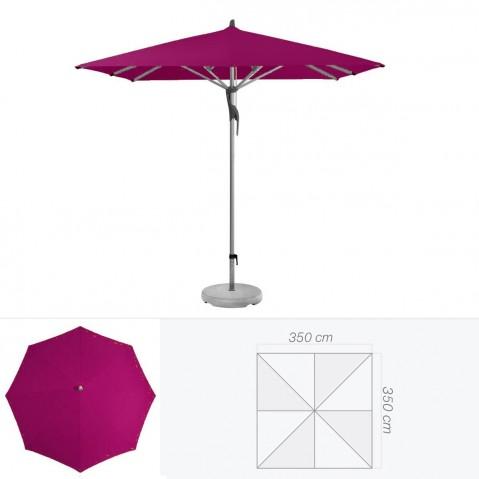 Parasol FORTERO de Glatz carré 350x350 cm prune