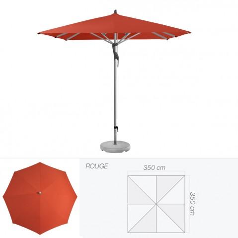 Parasol FORTERO de Glatz carré 350x350 cm rouge