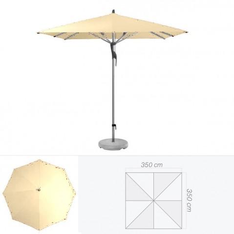 Parasol FORTERO de Glatz carré 350x350 cm sable