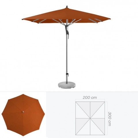 Parasol FORTERO de Glatz rectangulaire 300x200 cm acajou