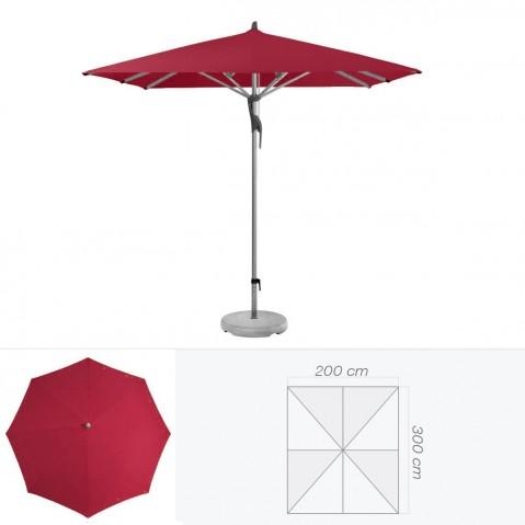 Parasol FORTERO de Glatz rectangulaire 300x200 cm amarante