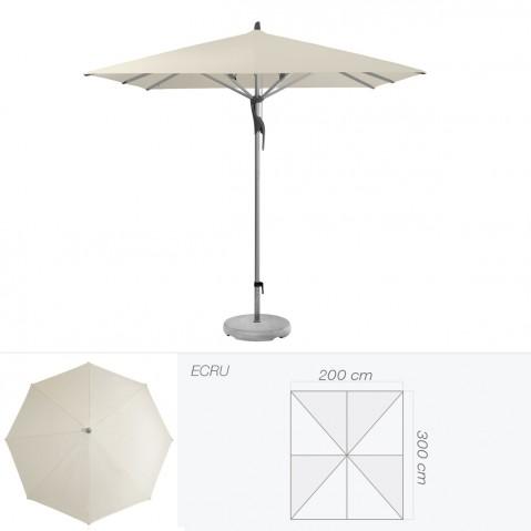 Parasol FORTERO de Glatz rectangulaire 300x200 cm écru