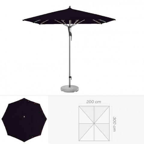 Parasol FORTERO de Glatz rectangulaire 300x200 cm Noir d'anilime