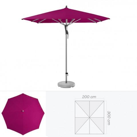 Parasol FORTERO de Glatz rectangulaire 300x200 cm prune
