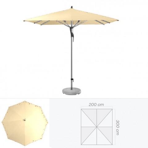 Parasol FORTERO de Glatz rectangulaire 300x200 cm sable