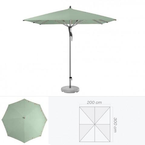 Parasol FORTERO de Glatz rectangulaire 300x200 cm vert de gris