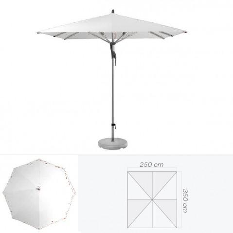 Parasol FORTERO de Glatz rectangulaire 350x250 cm argent