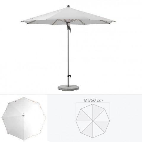 Parasol FORTERO de Glatz rond D.350 cm argent